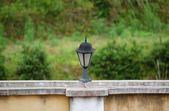 Street lamp on the wall — Stock Photo