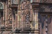Sculpted wall, Angkor Wat — Stock Photo