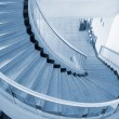 Blue spiral Stairs — Stock Photo