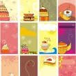 Sweets  cards — Stock Vector