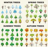 Tree set — Stock Vector