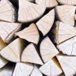 Stack with fire wood — Stock Photo