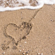 Royalty-Free Stock Photo: Heart on sand