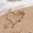 Stock Photo: Heart on sand