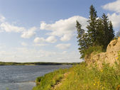 Northern river — Stock Photo