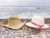 Two summer hats — Stock Photo