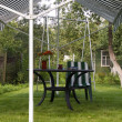 Stock Photo: Table under a canopy
