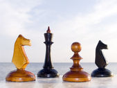 Combination from chessmen — Stock Photo
