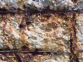 Destruction of a concrete wall — Stock Photo