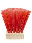 Wooden red brush — Stock Photo
