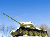 Tank T34 monument — Stock Photo