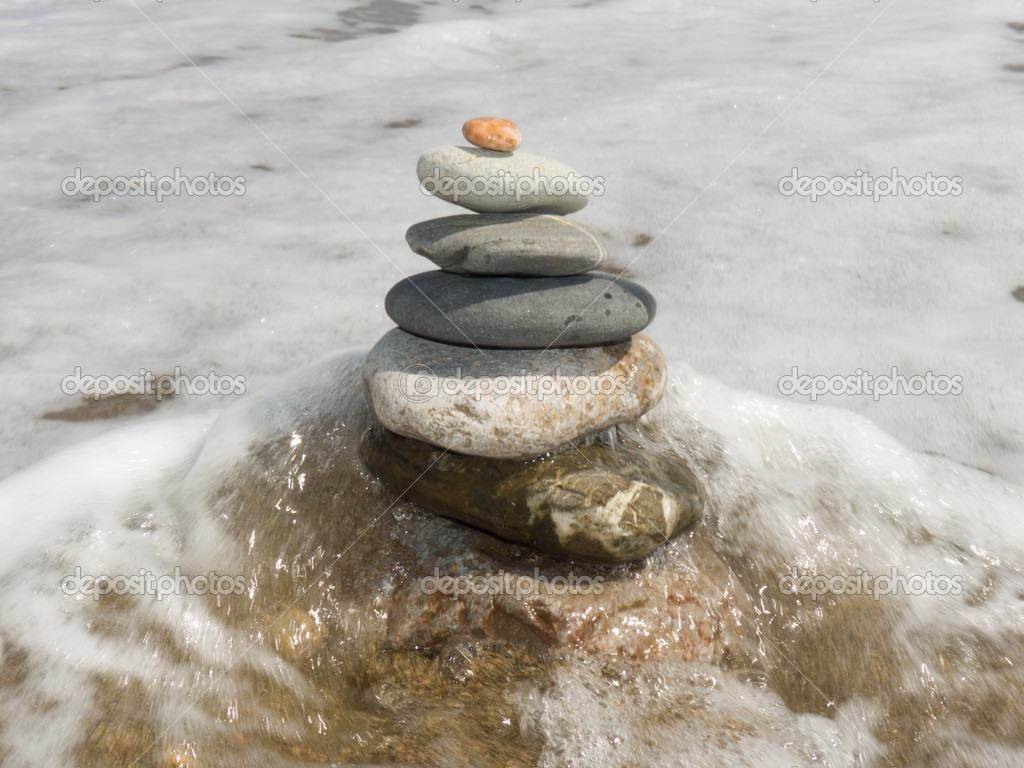 Stones for meditation on a sea coast — Stock Photo #1876100