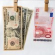 Comparison of exchange rates — Stock Photo