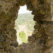 Stock Photo: Window in old stone fortress