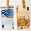 Euro of banknote — Stock Photo #2032854