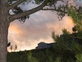 Fiery sunset — Stock Photo