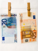 Euro of a banknote — Stock Photo
