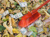 Depreciation of currency. Crisis. — Stock Photo