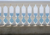 White balustrade — Stock Photo