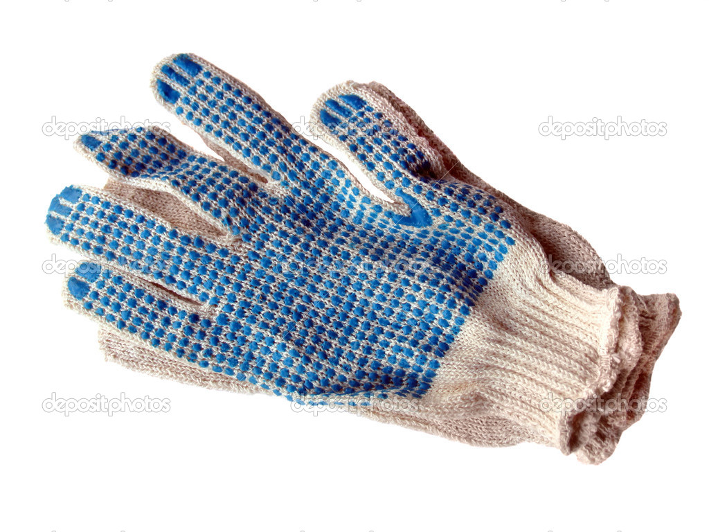 Protective working Gloves  on a white background — Stock Photo #2031032