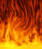 Dancing fiery background — Stock Photo