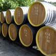 Oak wine casks - Stock Photo