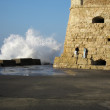 Harbour in heraklion — Stock Photo