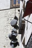 Hanging pots in toledo — Stock Photo