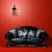 3d max sofa — Stock Photo