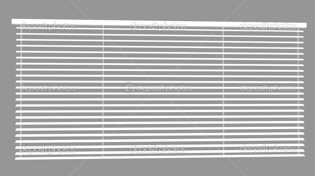 Window  plastic blinds in a shade of gray — Stock Photo #2133499