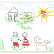 Stock Photo: Clipart Childs drawing
