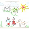 Clipart Childs drawing — Stock Photo #2211509
