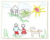 Clipart Childs drawing — Stock Photo