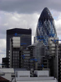 The Gherkin viewed from The Monument, London, UK. — Stock Photo