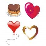 Four ial hearts — Stock Photo #1826117