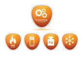 Generic icons with simbols — Stock Photo