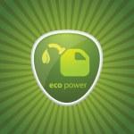 Eco fuel Recycle — Stock Vector