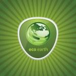 icono de reciclaje Eco — Vector de stock