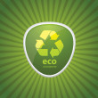 Eco Recycling Icon — Vector de stock