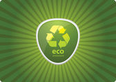 Eco Recycling Icon — Stock Vector