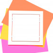 multicolored postit note paper — Stock Photo