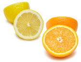 Slices of an lemon and orange — Stock Photo