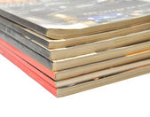 A large stack of magazines piled high — Stock Photo