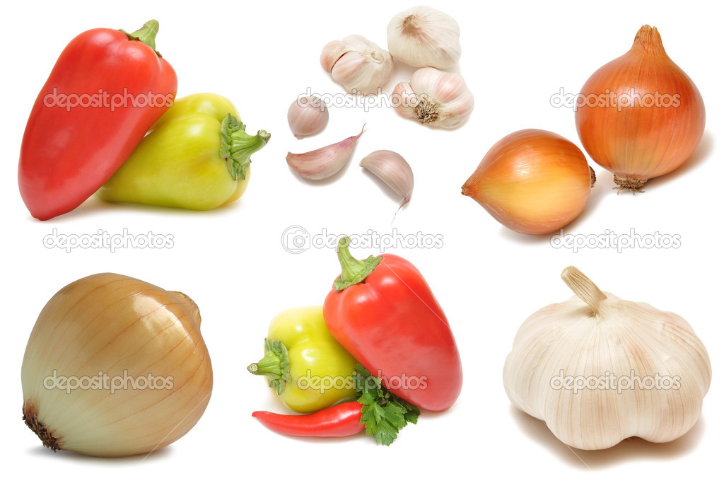 Vegetables isolated on white  — Stock Photo #1877626