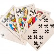 Cards from ace to ten — Stock Photo