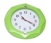 Green wall clock — Stock Photo