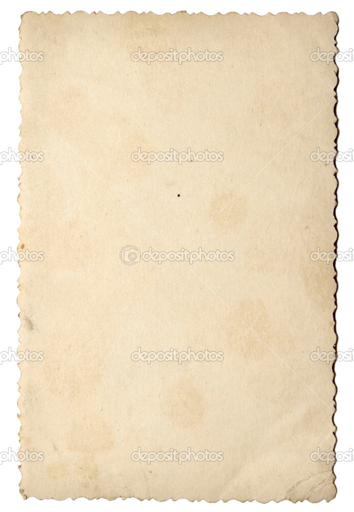 Old photo paper texture isolated on white background  — Stock Photo #1887859