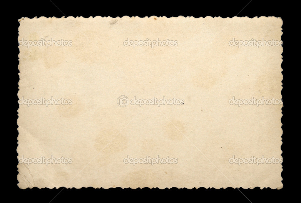 Old photo paper texture isolated on a black background  Stock Photo #1888226