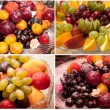 Selection of photos of fruit — Foto de Stock