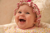 The little girl in a hat — Stock Photo